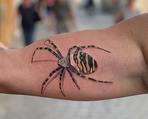 Spinnen Tattoo Unterarm 3D Tattoo