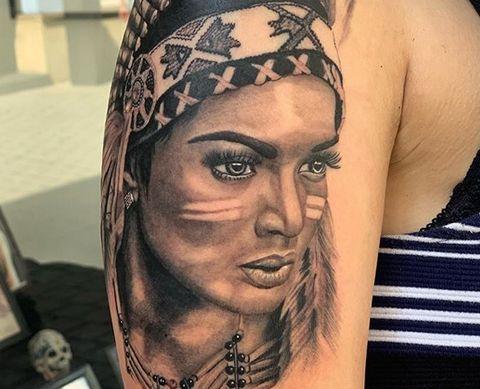 Indianer Tattoo | Portrait Tattoo